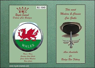 Royale Car Grill Badge & fittings - NATIONAL FLAG OF WALES - B2.1540