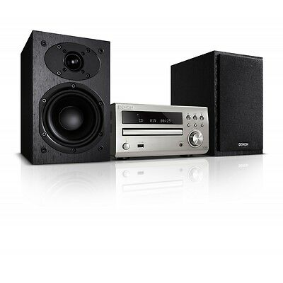 Denon DM39DAB Music System Silver with Black SCM39 Speakers