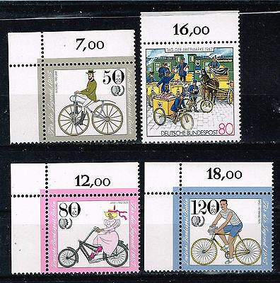 Germany Bicycles set 1985 MNH