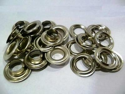 500 Pieces EYELETS 6,0 mm rust-free NICKEL PLATED SILVER RIVETS,f. LEATHER,