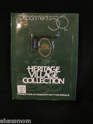 Department 56 Heritage Village Collection Promotional Accessory Sign Brand New