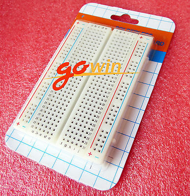 2x Mini Universal Clear Solderless Breadboard 400 Contacts Tie-points Available
