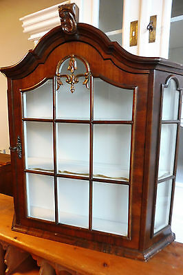 Antique Wall Cabinet Cupboard in Nutwood Hanging Cabinet Dutch