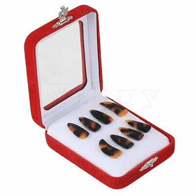 Black Orange Professional Acetic Acid Small Gauge Guzheng Finger Picks Set of 8