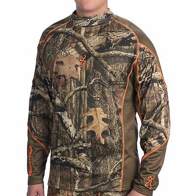 New Browning Hells Canyon Lightweight Base Layer Shirt LS Hunting Camo $70 MOINF