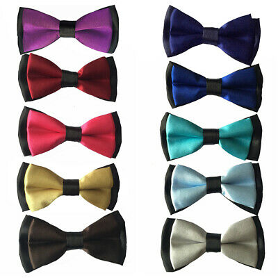 Children Boys Kids 2-Colour Bow Ties Party Wedding Necktie Tuxedo Suit Bowtie