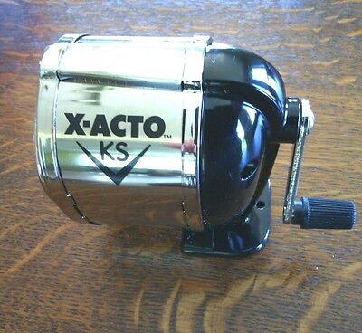 Steel Pencil Sharpener Desk Table Wall-Mounting Adjustable Boston X-Acto KS Top
