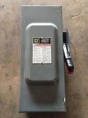 Square D HU363 100A 600V Heavy Duty Safety Switch Series F05 Type 1