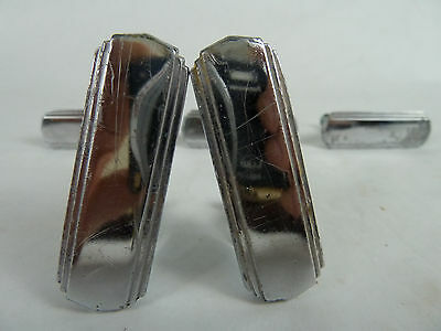 Vintage Art Deco Style Chrome Door Drawer Pulls Lot of 5