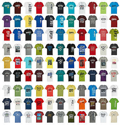 NWT aeropostale MENS YOU PICK SIZES GRAPHIC T-SHIRTS LOT OF 15 Free Shipping