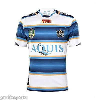 Gold Coast Titans Heritage Jersey Sizes S & 2XL Adults NRL BLK SALE!! 6