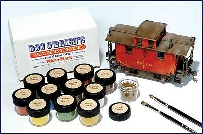 Doc O'Brien's weathering Powders-set of 12 - Made in USA - Model Trains HO N O