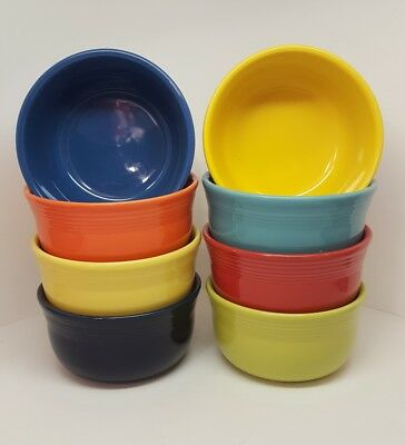 Fiestaware Mixed Colors Gusto Bowl Lot of 8 Fiesta Large cereal 8C14M3