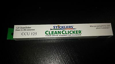 Fiber Optic Optical Fiber Connector Cleaner Sticklers Clean Clicker 1.25