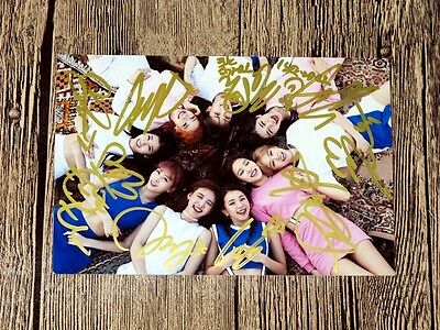 TWICE autographed signed group photo new korean 4*6 freeshipping 10.2016 01