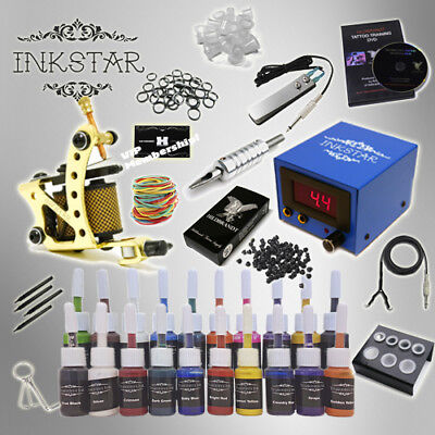 Complete Tattoo Kit by Inkstar Venture with Black, Color, Professional or No Ink