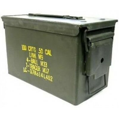 Ammo Box 50 Cal Ammunition Box  Steel Fully Sealed Ex Military Army