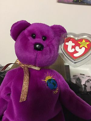 VERY RARE 2 ERRORS TY Beanie Babies MILLENNIUM Millenium MINT Limited Tag MWMT