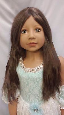 "NWT Monique Jade Brown Doll Wig 19 1/2"" fits Masterpiece Doll(WIG ONLY)"