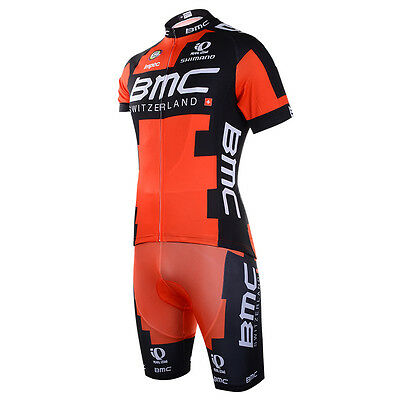 2016 Mens Cycling Team Short Sleeve Bicycle Jersey + Bib Shorts Set - Brand New