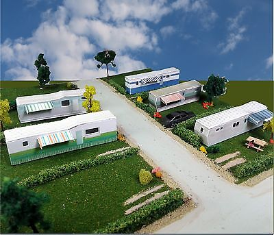 Z Scale Buildings - Mobile Home Trailer Park Homes Cardstock kit set