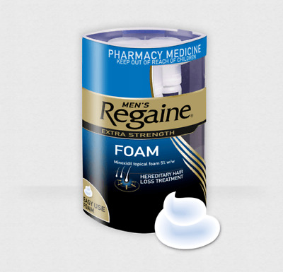 Regaine Mens Extra Strength Foam 3 Months Supply Hair Loss 3 X 60G