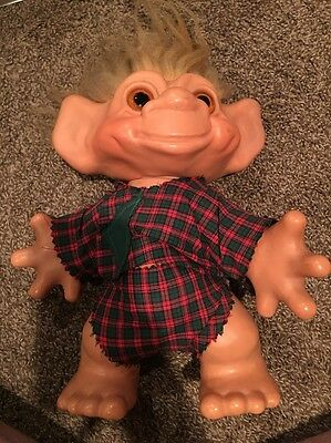 Vintage Dam Things 1964  Troll Doll Large 12 inches tall
