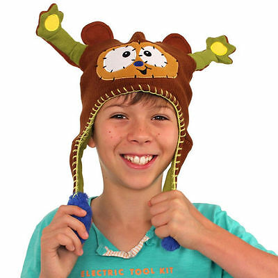 "New Unisex Kids Abg Flipeez Hat ""huggy The Monkey"" With Flipping Arm Action"