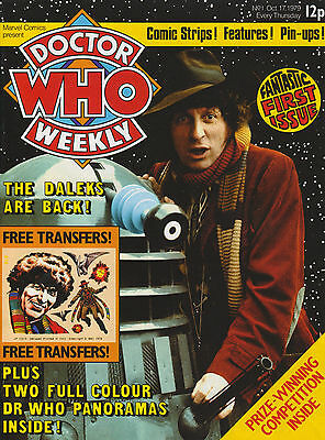 Doctor Who Weekly #1 REPRINT.  Nr mint. Fundraiser!