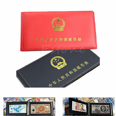 Hot Book Collecting Collection Pockets Album Paper Money Holders Storage