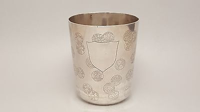 Early 19Th Century Qing Dynasty Chinese Export Silver Tumbler Or Dice Cup