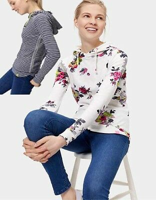 Joules Marlston Ladies Long Sleeved Hooded Top-VMarlston