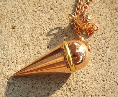 Copper plated metal cone witness chamber dowsing pendulum