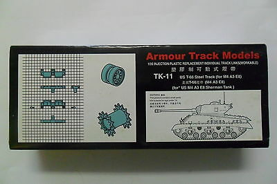 Armour Track Models 1:35 Tk-11 Us T-66 Steel Track For Us M4 A3 E8  Art 02041