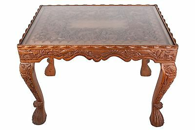 Indien 20. Jh. Geschnitzter Holztisch - A Carved Wood Table Northern India Inde
