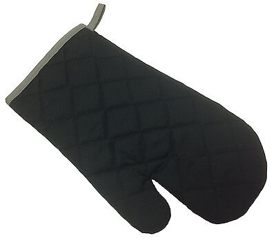 Clearance Black Double Oven Glove And Oven Mitt - Sold Separately