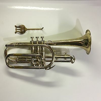 Vintage H.N. White Cleveland Superior Brass Cornet With Case & Mouthpiece