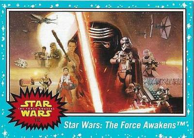 Star Wars - Journey to The Force Awakens - Blue - Complete Card Set (110) - NM
