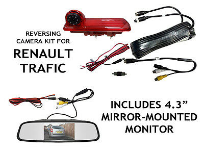 Renault Traffic Van Reversing Camera For Brake Light Integration 2014 to Present