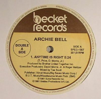 """BELL, Archie - Anytime Is Right - Vinyl (12"""")"""