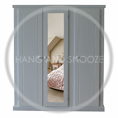 Handmade Dewsbury Ladies Triple  Wardrobe Grey (Assembled)