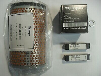 TRIUMPH BONNEVILLE / SE / T100 SERVICE KIT with GENUINE PARTS