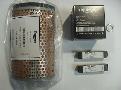 TRIUMPH THRUXTON / SCRAMBLER SERVICE KIT with Filters GENUINE PARTS
