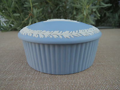 Wedgwood Blue Jasper, Round Jar, Mother and Baby, Trinket Box