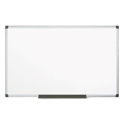 MasterVision Value Lacquered Steel Magnetic Dry Erase Board 48 x 96 White