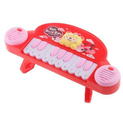 Fun Colorful 10 Keys Cartoon Electronic Keyboard Piano Preschool Music Toy