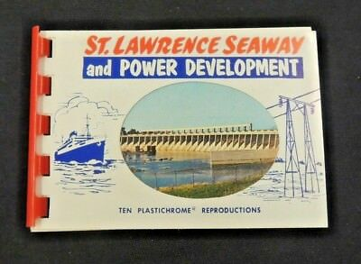 Vintage Souvenir St.Lawrence Seaway & Power Development 10 Color Mini Photo Book