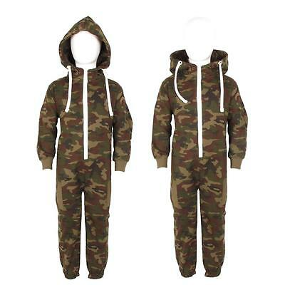 New Childrens Kids Boys Girls Army Camouflage Warm Jumpsuit Tracksuits One Size