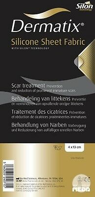 Dermatix Silicone Sheet 4cmx13cm For Scarring, Burns Convenient Easy to Use