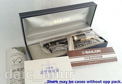 Fountain Pen Black Sailor Profit 1911 Standard Zoom nib 14kt F/S with Tracking